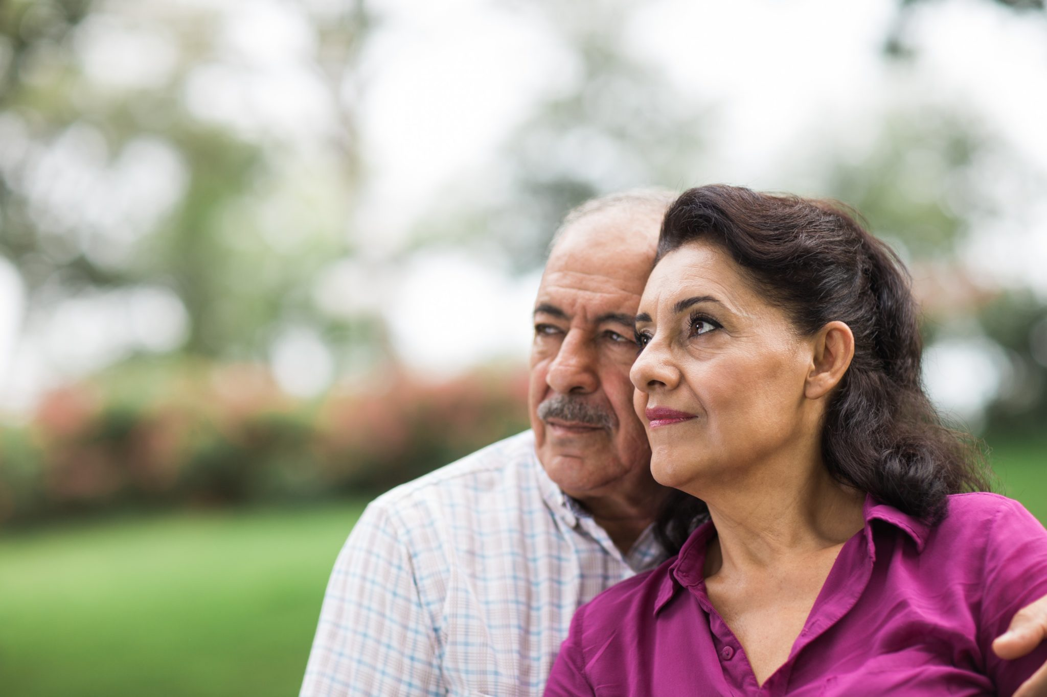 Couple in Thought about Assisted Living | Cottage Grove Place